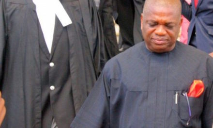 Senator Kalu Weeps as He Gets 12 Years Prison Sentence