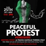 EndSARS Protests Continue in Italy this Weekend
