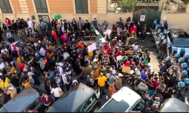 Protesters Storm the Embassy of Nigeria in Rome