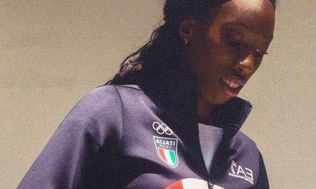 PAOLA EGONU CARRIES OLYMPICS FLAG FOR ITALY